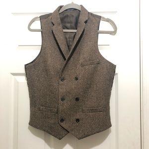Bar III Men's Brown Wool Suit